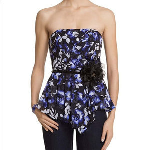 White House Black market pleated strapless top